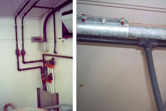 El diámetro de las tuberías es escaso para ofrecer un buen caudal.