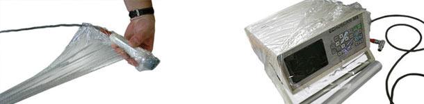 Proteger el ecógrafo con film de plástico de cocina