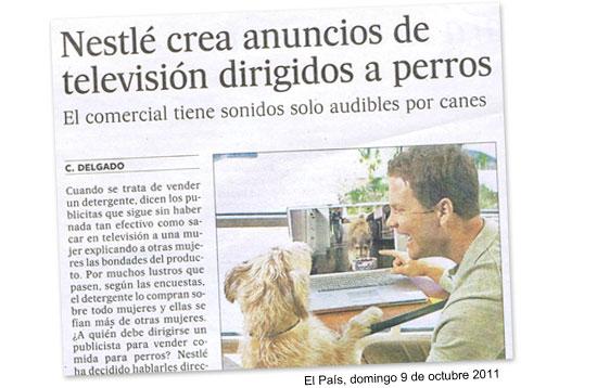 Nestlé crea anuncios de televisión dirigidos a perros