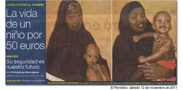 Fíjense en las imágenes de esta madre y su hijo, fíjense en sus caras