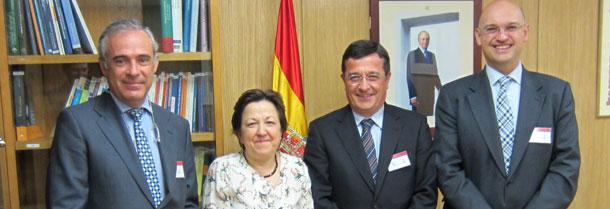 Juan Carlos Castillejo, Pilar Farjas, Emilio Gil y Santiago de Andrés.