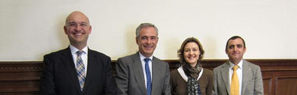 Isabel García Tejerina, Juan Carlos Castillejo, Santiago de Andrés y Alfonso Las Heras
