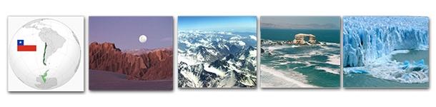 Entre la Cordillera de los Andes por el este, el Océano Pacífico en el oeste, el Desierto de Atacama por el norte y los grandes glaciares en el sur, se encuentra Chile.