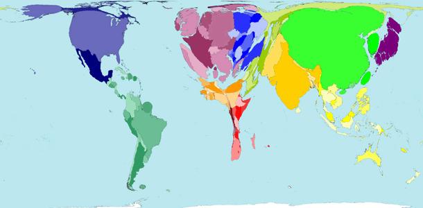 Mapa de consumo de carne mundial