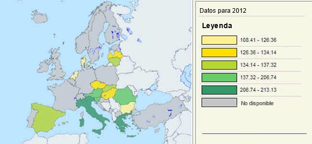 Países de la UE con precio de referencia
