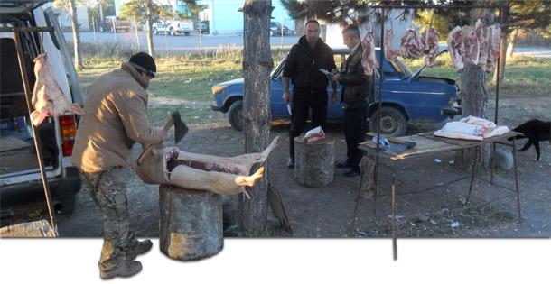 Carnicería tradicional en Georgia