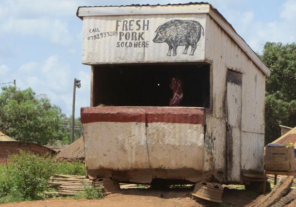 Carnicería en Gulu, Uganda