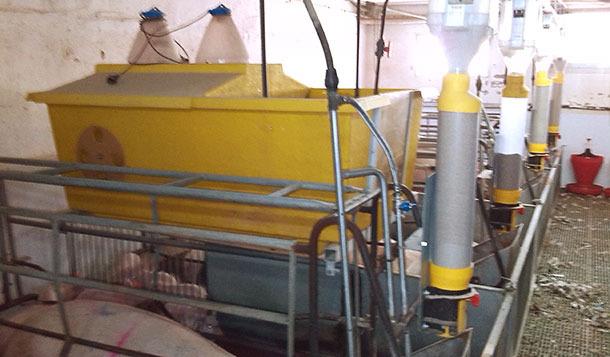 Dosificación automática de leche en continuo con cajones-nido en paridera