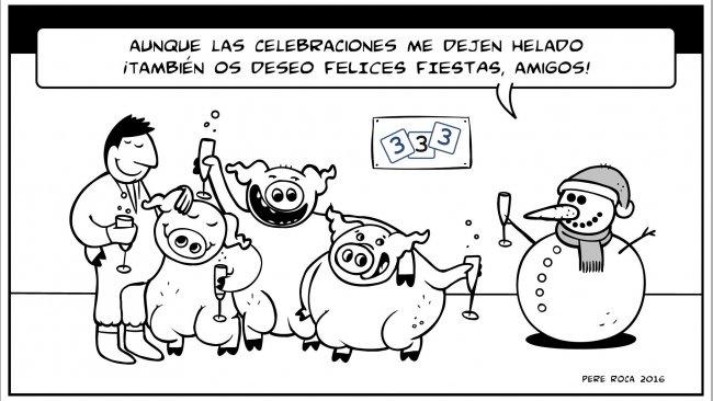 ¡El equipo de 333 os desea felices Fiestas!