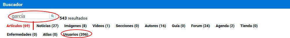 Utilizando el buscador puedes encontrar a un usuario concreto en 3tres3