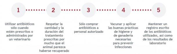 Uso responsable de los antimicrobianos.