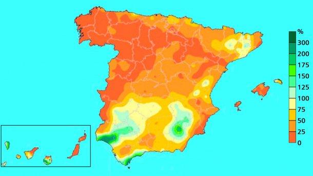 Imagen 3: Precipitación acumulada en abril 2017. Fuente: AEMET