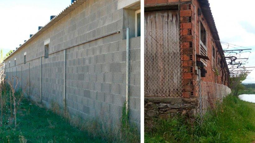 Este vallado solo sirve para dificultar el segado de la hierba y facilitar que las ratas puedan trepar. Fue necesario hacerlo para conseguir el permiso de explotación.