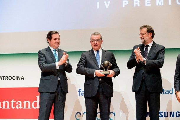 Entrega del Premio Pyme del Año de CEPYME y CEAT a Magapor. Fuente: CEPYME.