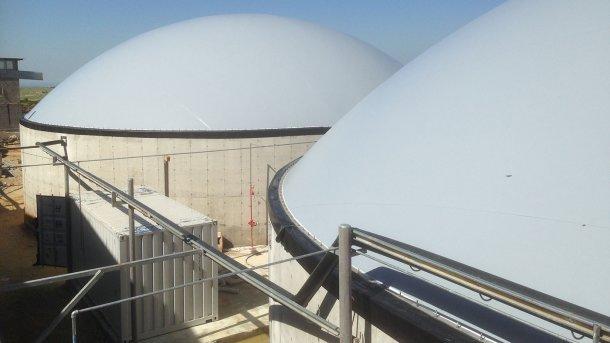 Vista general de una planta de biogás