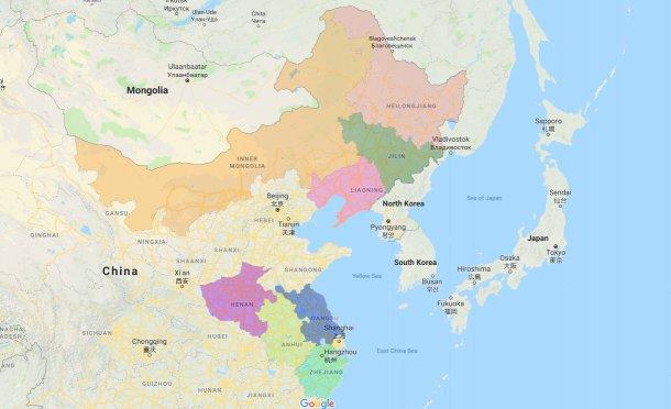 Provincias afectadas por la PPA.
