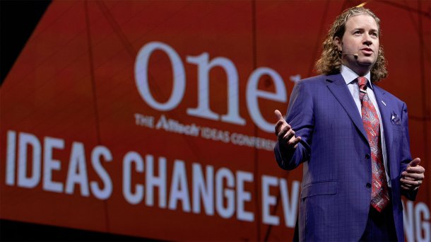 Dr. Mark Lyons, presidente y CEO de Alltech, en ONE: The Alltech Ideas Conference (ONE18) que se celebró en mayo de 2018 en Lexington (Kentucky, EE. UU.).