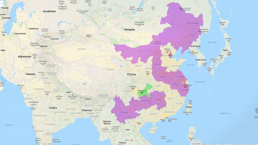 Províncias afectadas por PPA