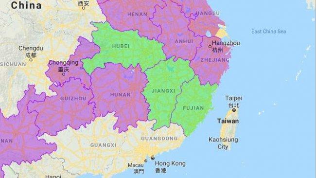 Las tres nuevas provincias afectadas son Hubei, Jiangxi y Fujian.