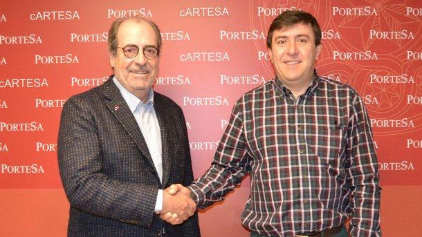 Alfonso Arenillas (Topigs) y Juan Saz (Cartesa)
