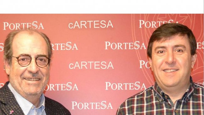 Alfonso Arenillas (Topigs) y Juan Saz (Cartesa)