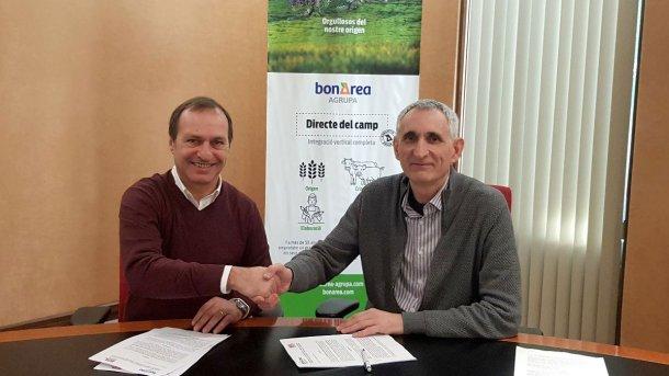 Josep Usall, director general del IRTA, y Ramon Alsina, consejero delegado de bonÀrea Corporació.