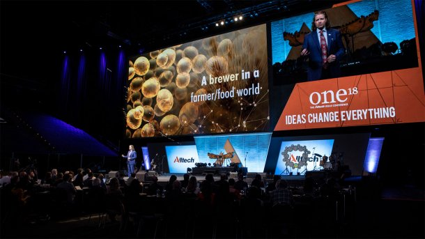 ONE: The Alltech Ideas Conference reúne a casi 4000 líderes de pensamiento de todo el mundo para explorar juntos ideas transformadoras. La conferencia se celebrará en Lexington (Kentucky, EE. UU.) del 19 al 21 de mayo de 2019