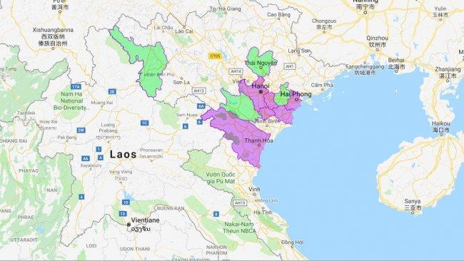 Provincias afectadas por la PPA (nuevas provincias en verde).