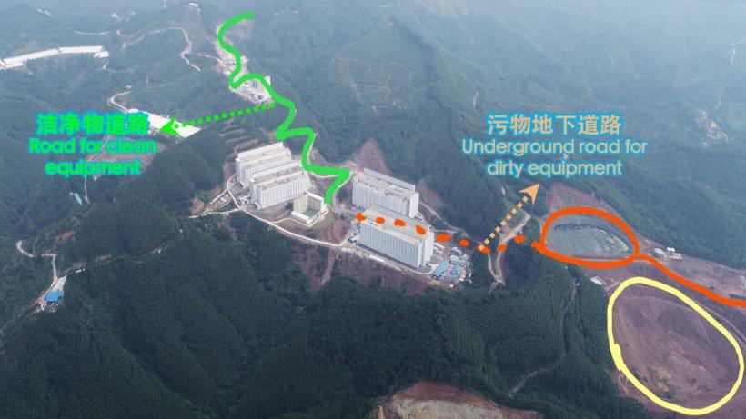 Foto 3: Camino de acceso y de salida de la zona donde hay animales.