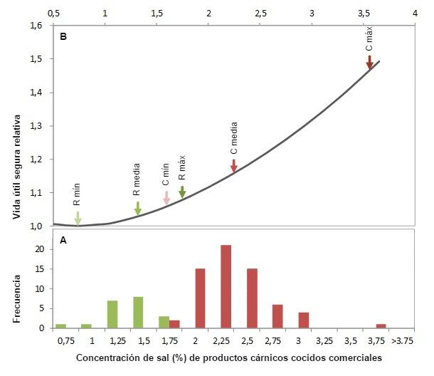 Distribución de la concentración de sal y impacto en la vida útil