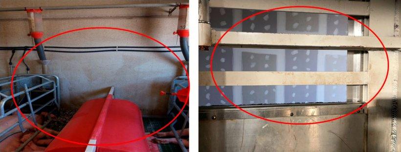 Foto 1: Mismo error en las naves que en el transporte, la máquina a presión tiene que hacer todo el trabajo.