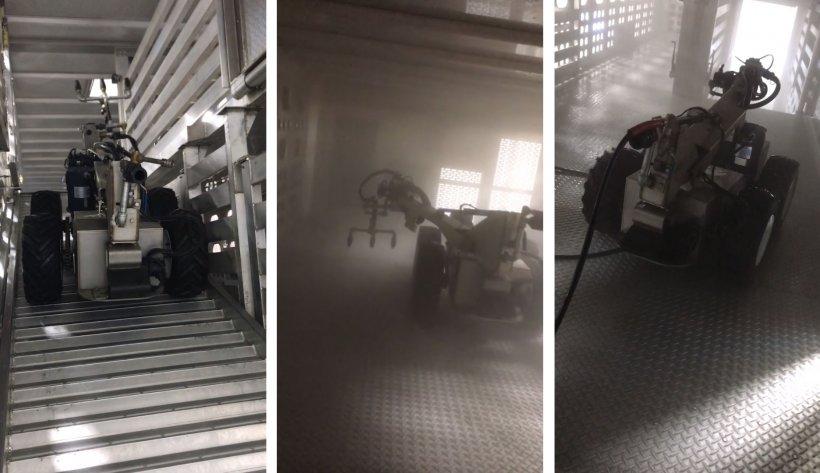 Figura 4: Robot para el lavado de camiones. Fuente: Swinerobotics
