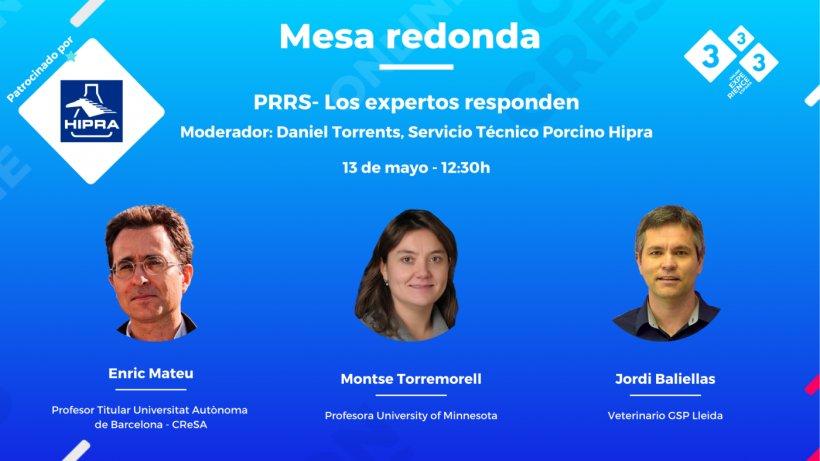 Mesa Redonda sobre PRRS con M. Torremorell, E. Mateu y J. Baliellas