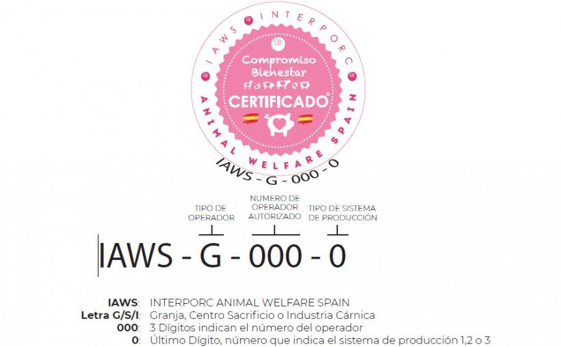 IAWS es el sello de certificación creado por INTERPORC para avalar las buenas prácticas llevadas a cabo en materia de bienestar animal, sanidad, bioseguridad, manejo de los animales y trazabilidad, en todos los eslabones de la cadena de valor del porcino de capa blanca de España.