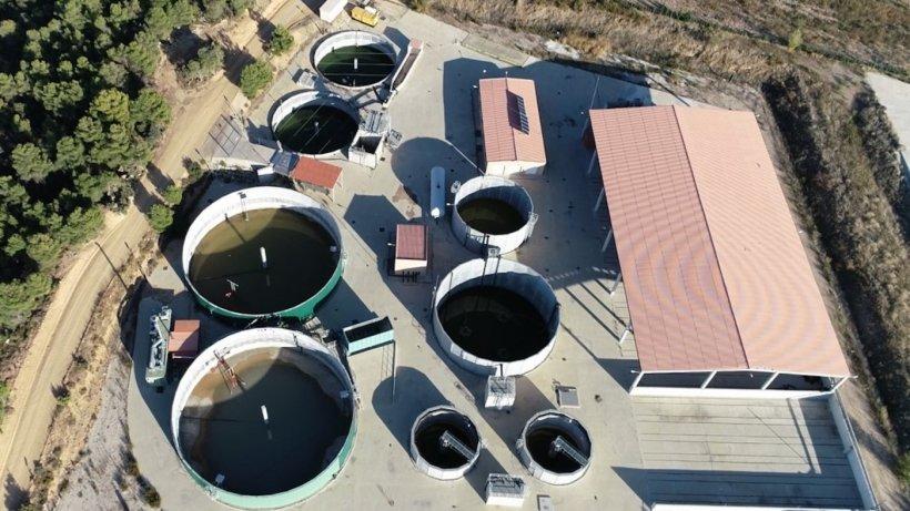 Planta de biogás especialmente dedicada a tratamiento de purines de Valderrobles (Teruel).