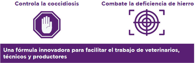 Controla la coccidiosis y combate la deficiencia de hierro