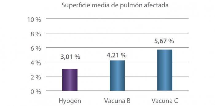 Figura 4. Comparación de la extensión de las lesiones
