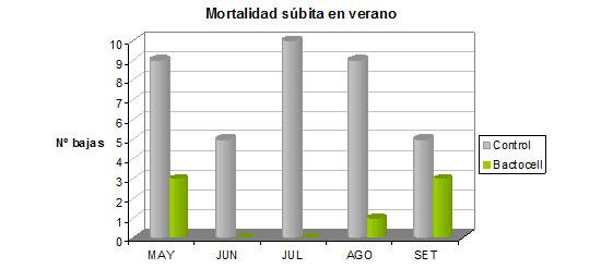 Bactocell: mortalidad verano