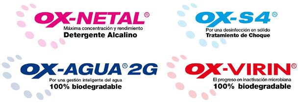 OX-NETAL, OX-S4, OX-AGUA 2G, OX-VIRIN
